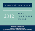 Frost&Sullivan Customer Value Enhancement Award for Innovative Applications of Video Conferencing in Telehealth