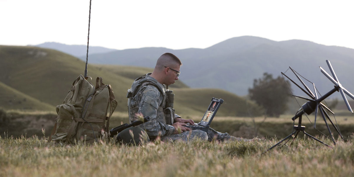 Soldier Video Conference on Rugged Tablet
